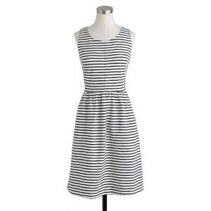 J. Crew Black White Stripe Back Zip Dress Size 4